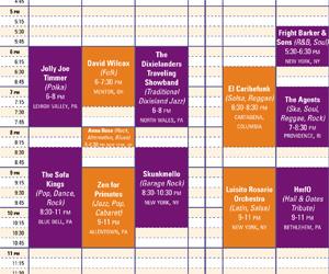 Bethlehem music fest lineup